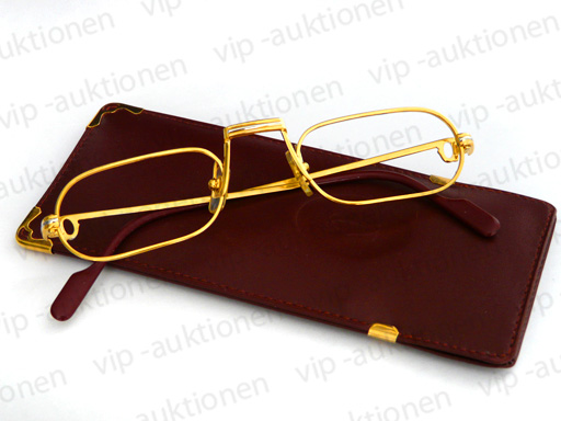 540623a35729 CARTIER DEMI LUNE BRILLE LESEBRILLE EYE-GLASSES FRAME OCCHIALI in ORIGINAL  ETUI