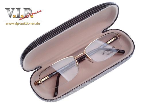 s t dupont lunettes brille brillengestell halfframe. Black Bedroom Furniture Sets. Home Design Ideas