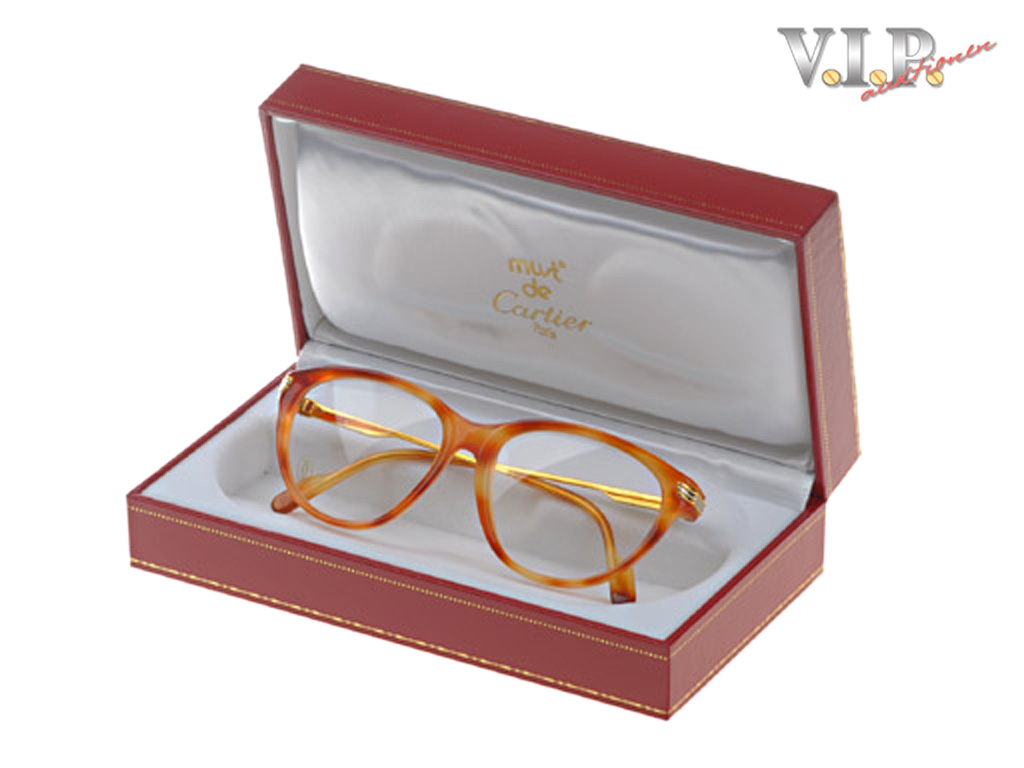 077561a8e6 Details about Cartier Trinity Lunettes Glasses Glasses Frame Occhiali